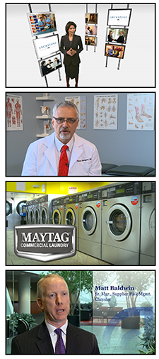 Virtual set, Testimonials, Maytag Commercial Laundry, Interview at Chrysler